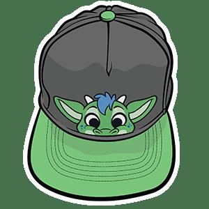 PeekABU Hats Dragon
