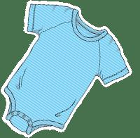 ABUniverse Active DiaperSuit BlueStripes