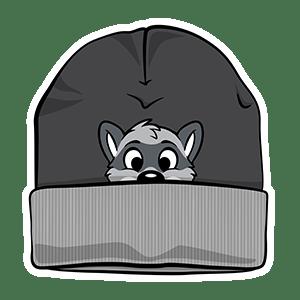 PeekABU Knitted Hats Raccoon