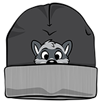 PeekABU Knitted Hat Raccoon
